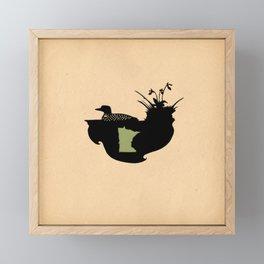 Minnesota - State Papercut Print Framed Mini Art Print