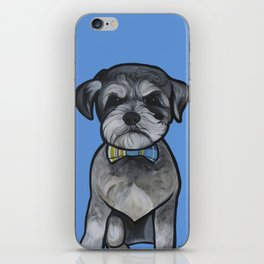 Gus the schnauzer mix iPhone Skin
