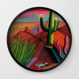 Gila River Landscape Wall Clock