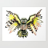 OWL - Spread Your Wings Art Print