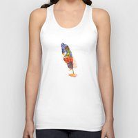 feather Tank Tops featuring feather by emegi