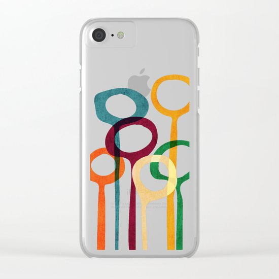Blowing bubbles Clear iPhone Case