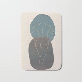 Line Female Figure 80 Bath Mat