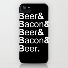 Beer and Bacon iPhone Case