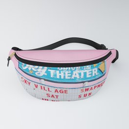 Sky Drive-In Theater Vintage Sign with Pink Sky Fanny Pack