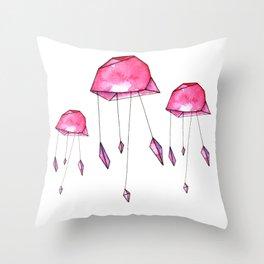 Geometric jellyfish Throw Pillow