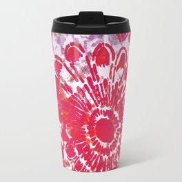 Large Pink Flower Travel Mug