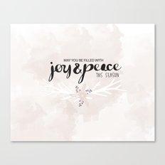Joy & Peace Canvas Print