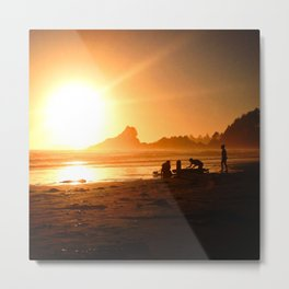 Sunset in Tofino, Cox Bay Metal Print