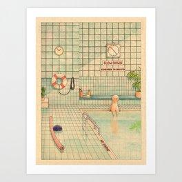 Indoor Pool Art Print