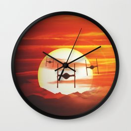 Twin Ion Engine Haze Wall Clock