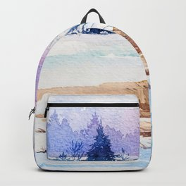 Winter scenery #13 Backpack