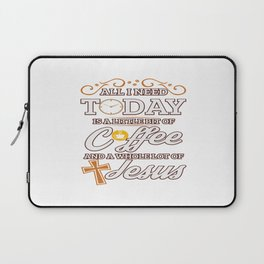 Jesus And Coffee Religion Christian Priest Gift Laptop Sleeve
