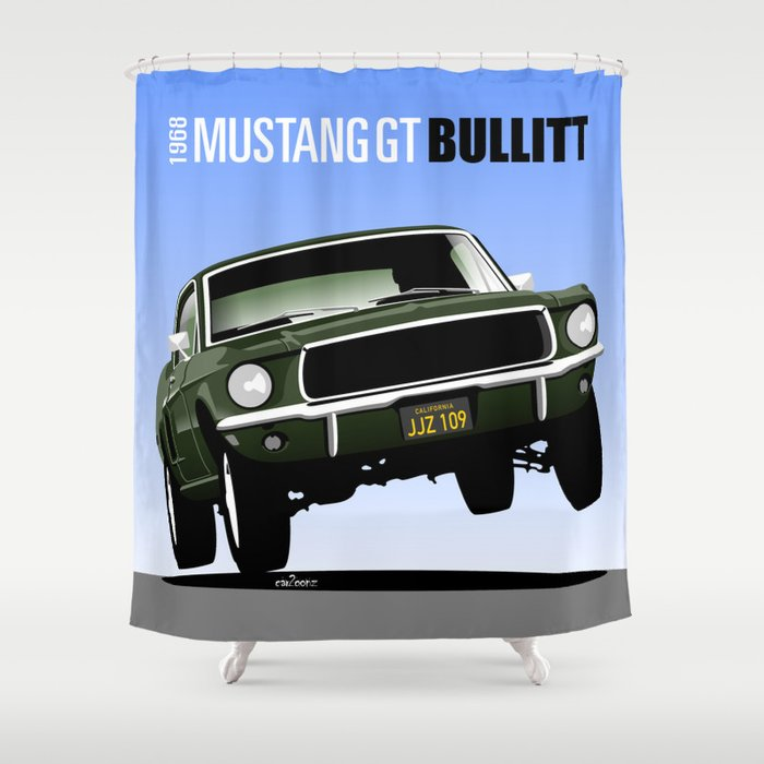 Ford Mustang Fastback GT 1968 From Bullitt Shower Curtain