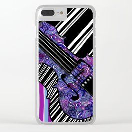Study in the key of Purple - cello Clear iPhone Case