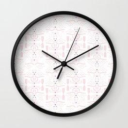Reindeer fest Pattern Wall Clock