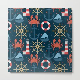 Sea blue pattern Metal Print