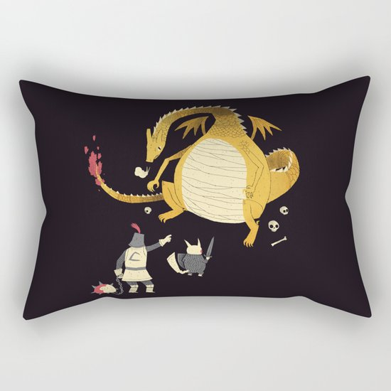 ye hath to catcheth them all(black) Rectangular Pillow