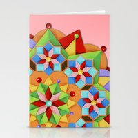 manchester Stationery Cards featuring Manchester Mandala  by Patricia Shea Designs