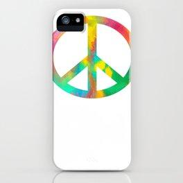 Peace Love Music iPhone Case