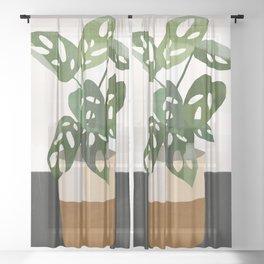 Plant 11 Sheer Curtain
