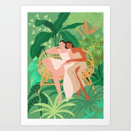 Jungle Sisters Art Print
