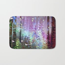 Siberian Summer- Northern Lights Bath Mat