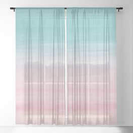 Touching Watercolor Abstract Beach Dream #2 #painting #decor #art #society6 Sheer Curtain