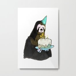 sloth birthday Metal Print