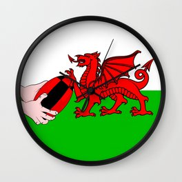 Wales Rugby Flag Wall Clock