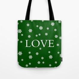 Winter Love - hunter green Tote Bag