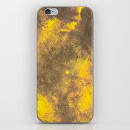 Yellow Painted on Concrete iPhone Skin