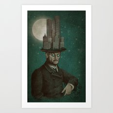 The Architect (colour option) Art Print