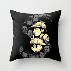 Holmes and Watsons Throw Pillow