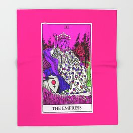 3. The Empress- Neon Dreams Tarot Throw Blanket