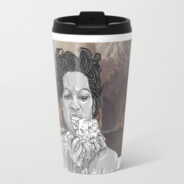 DELILAH (background : Albert Bierstadt - Lake Tahoe (1868)) Travel Mug