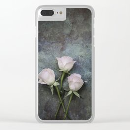 Three roses I Clear iPhone Case