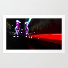 speed of nyc Art Print