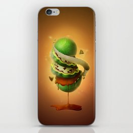 Sliced Green Wallnut iPhone Skin
