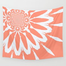 The Modern Flower Peach Wall Tapestry
