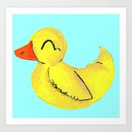 Happy Ducky Art Print