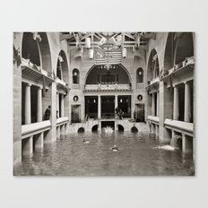 Vintage photo - Pool inside hotel Canvas Print