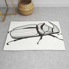 Beetle rhino Rug
