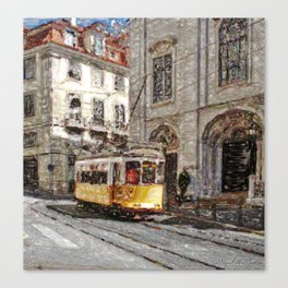 Old tramways III Canvas Print