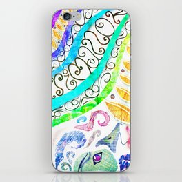 ARTSY Bird and curves iPhone Skin