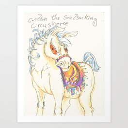 Carlton the Circus Horse Art Print