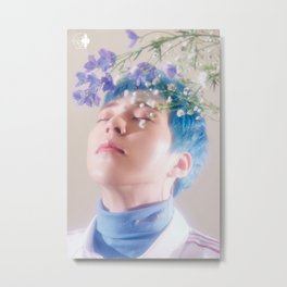 Xiumin / Kim Min Seok - EXO Metal Print
