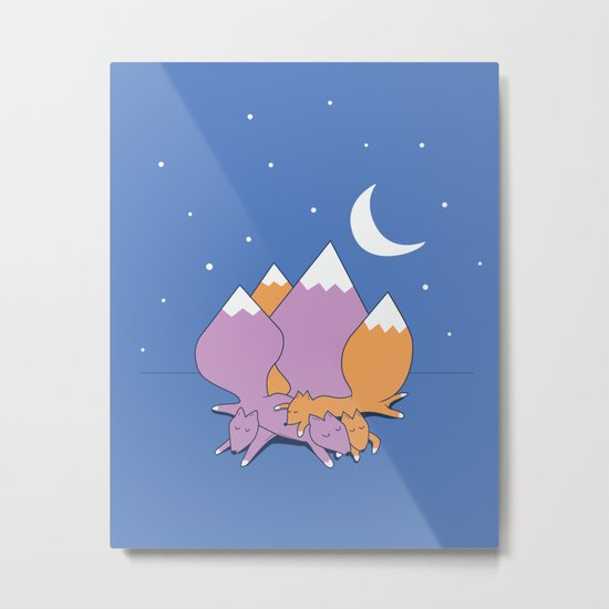 Let sleeping foxes lie Metal Print