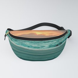 Turquoise Ocean Pink Sunset Fanny Pack