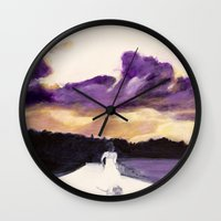 bride Wall Clocks featuring Bride by Chris Baily